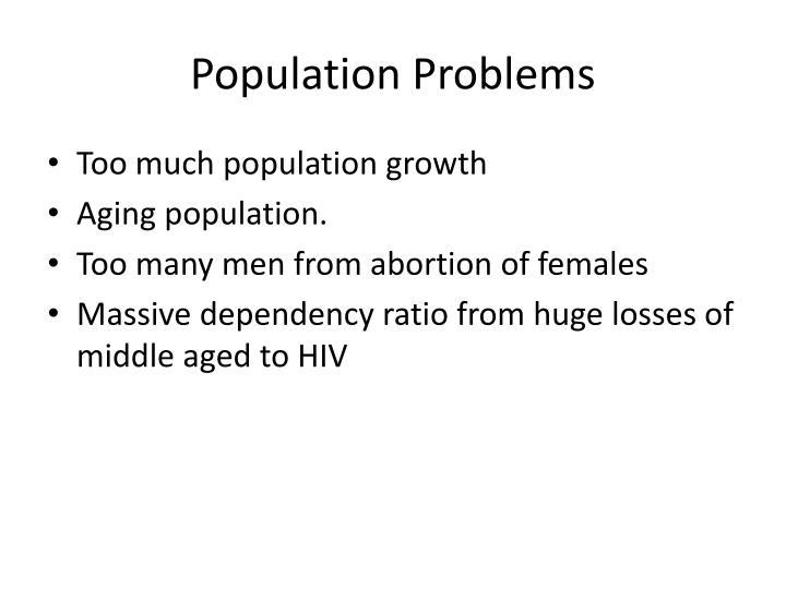 Population Problems