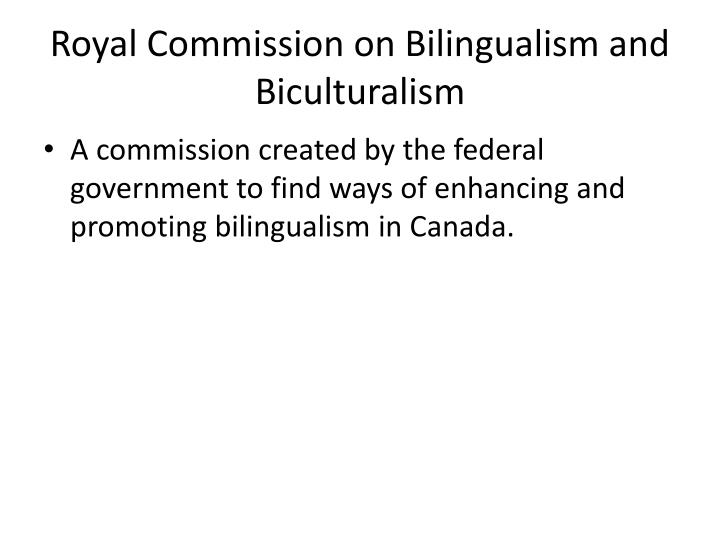 Royal Commission on Bilingualism and Biculturalism