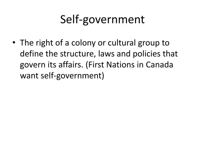 Self-government