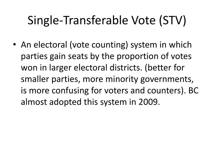 Single-Transferable Vote (STV)