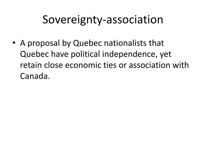 Sovereignty-association