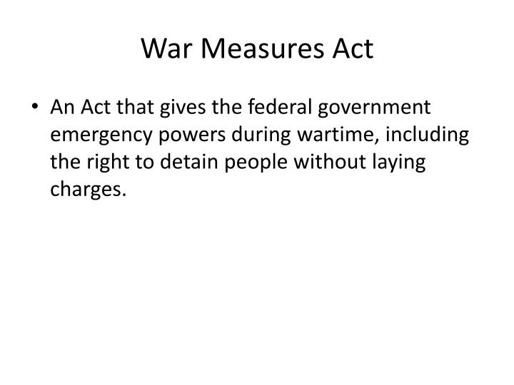 War Measures Act