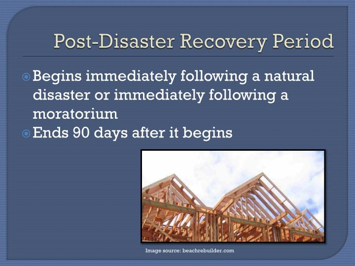 Post-Disaster Recovery Period