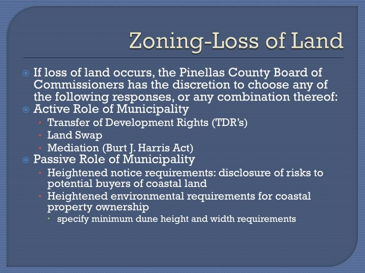 Zoning-Loss of Land