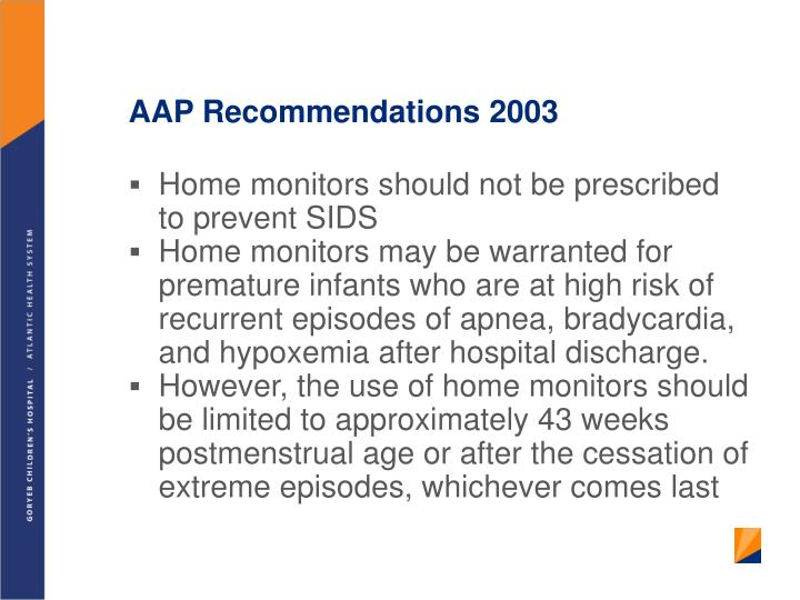 AAP Recommendations 2003