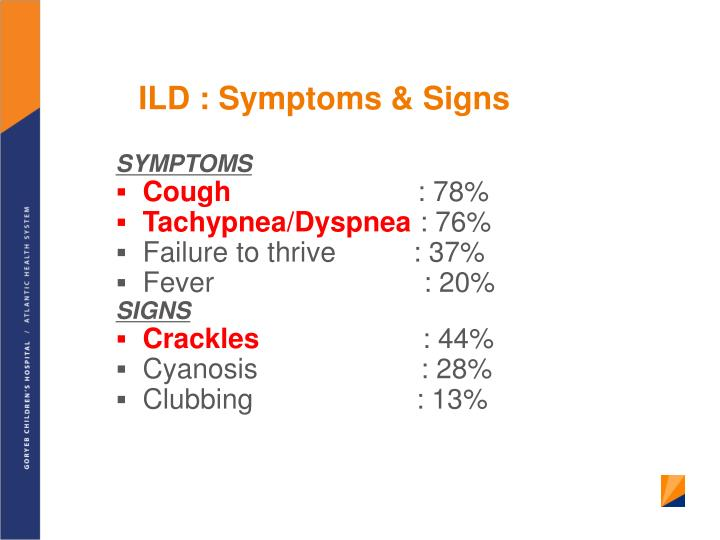 ILD : Symptoms & Signs