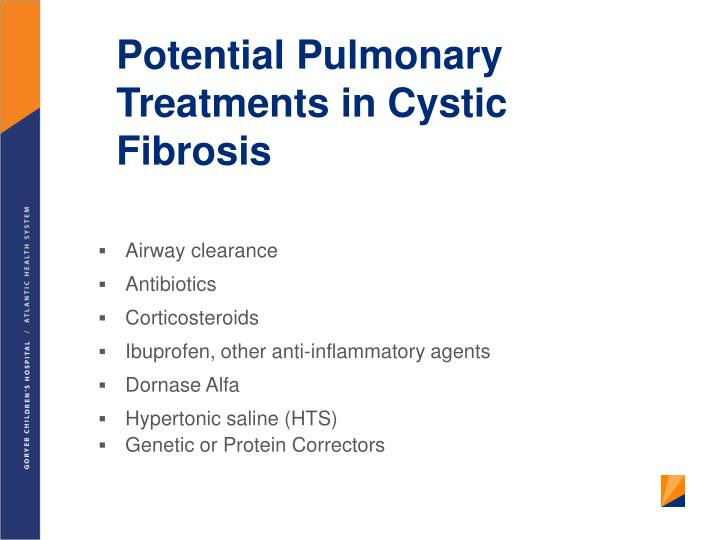 Potential Pulmonary Treatments in Cystic Fibrosis