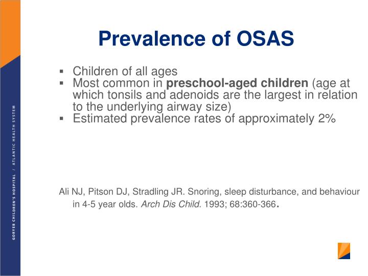 Prevalence of OSAS
