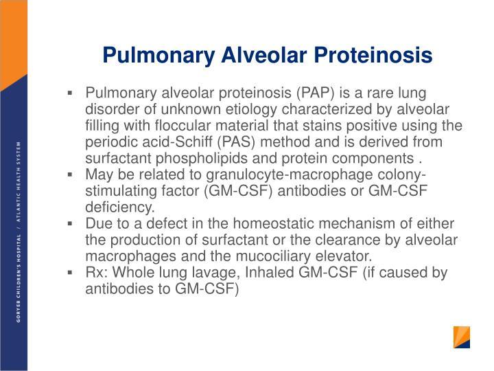 Pulmonary Alveolar