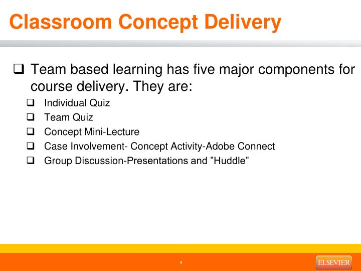 Classroom Concept Delivery