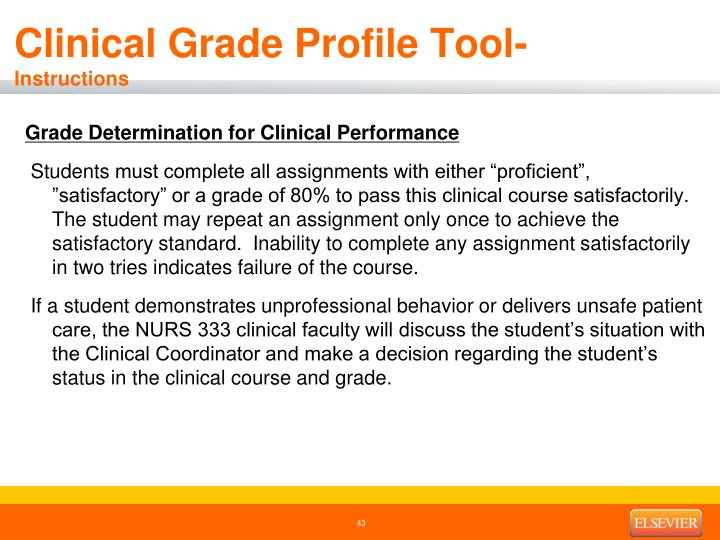 Clinical Grade Profile Tool-