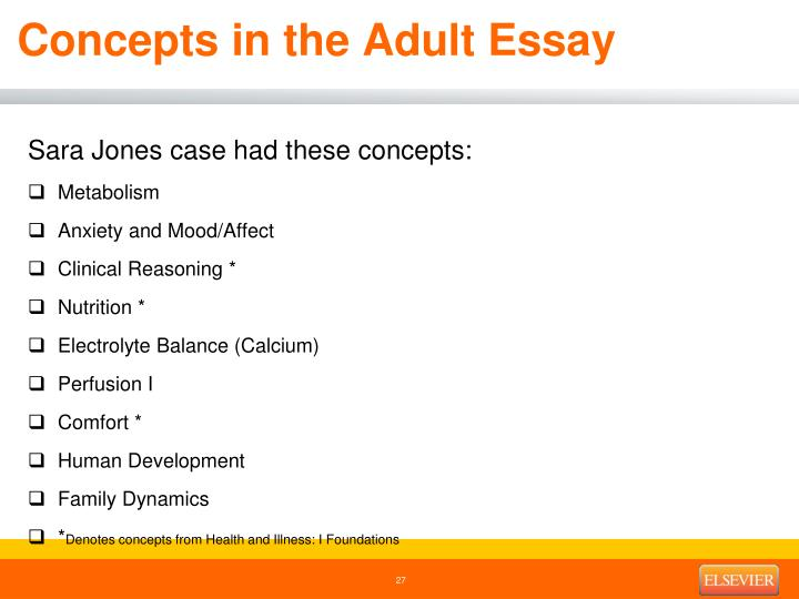Concepts in the Adult Essay