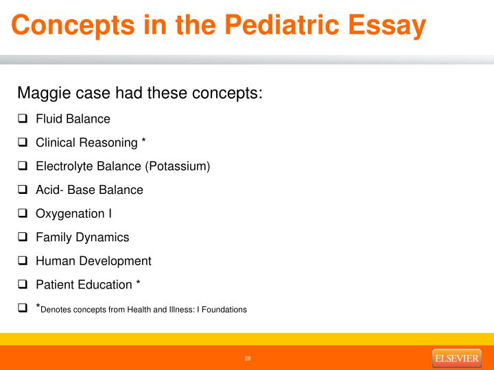 Concepts in the Pediatric Essay