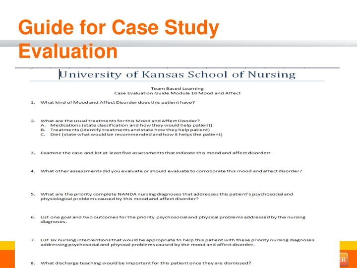 Guide for Case Study Evaluation