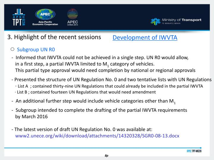 Development of IWVTA