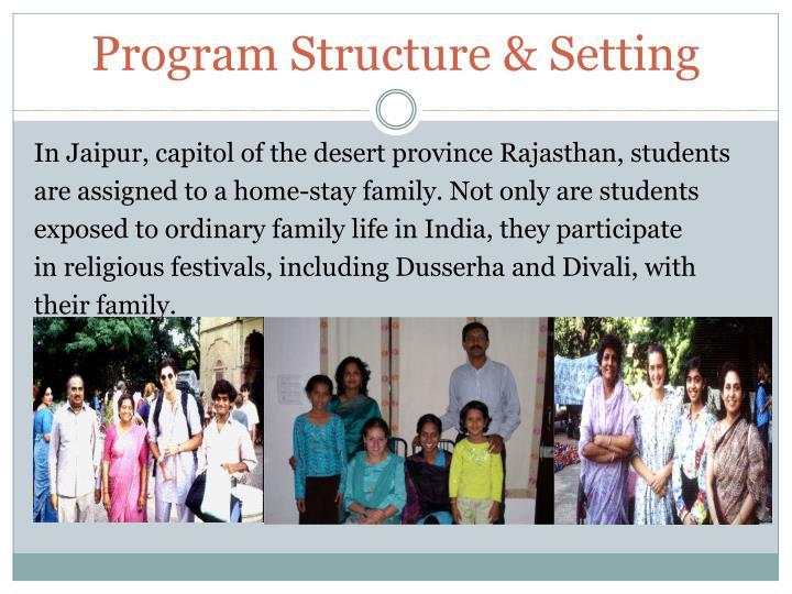Program Structure & Setting