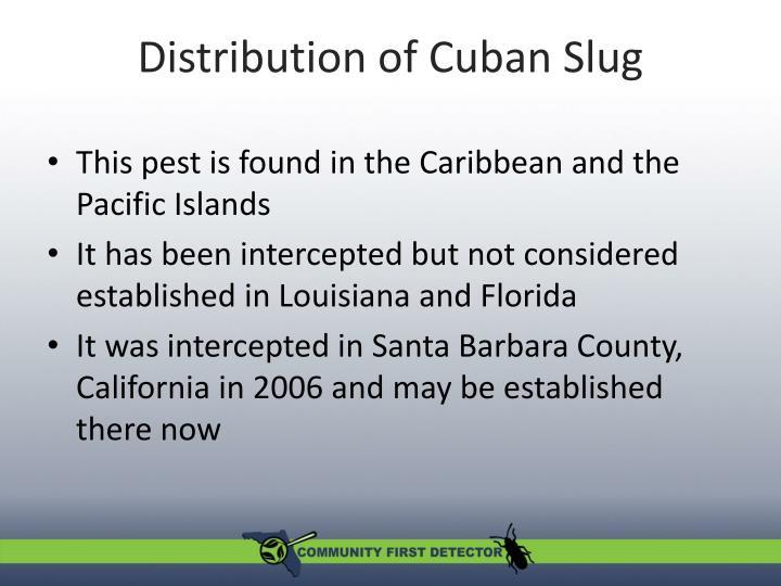 Distribution of Cuban