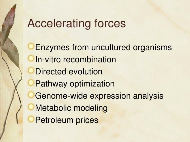 Accelerating forces