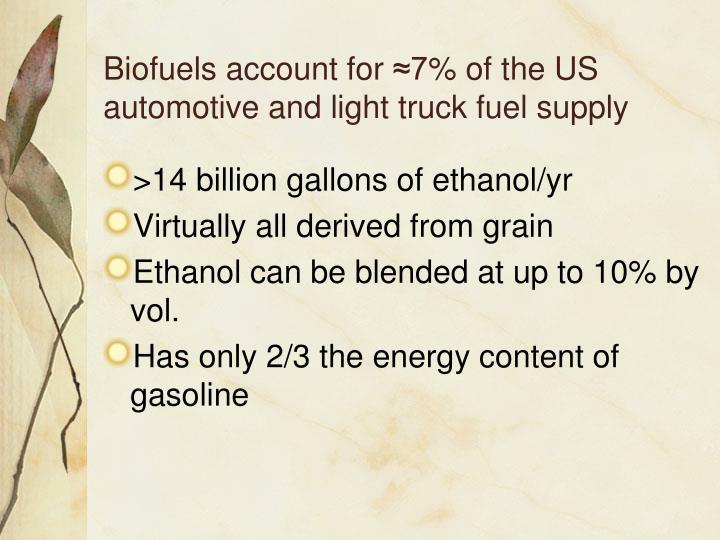 Biofuels account