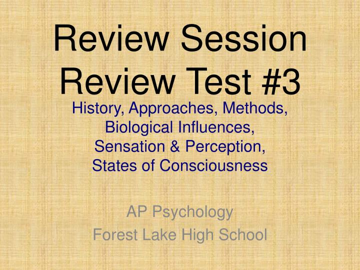 Review session review test 3