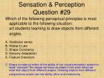 sensation perception question 29
