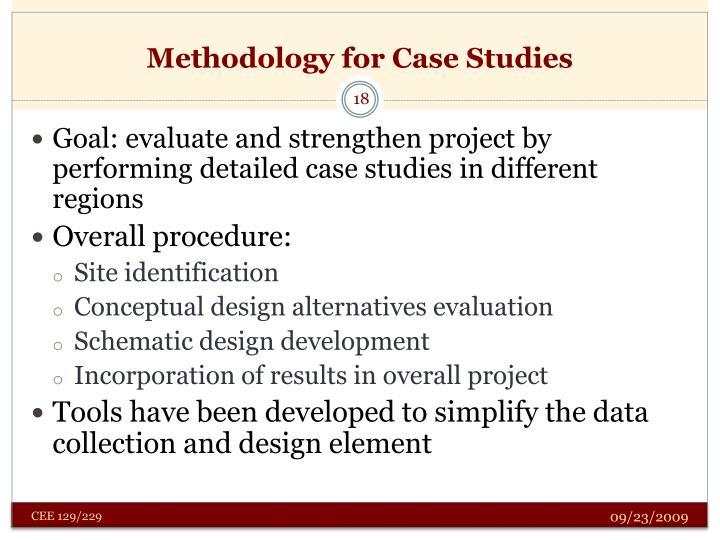 Methodology for Case Studies