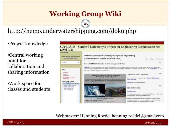 Working Group Wiki