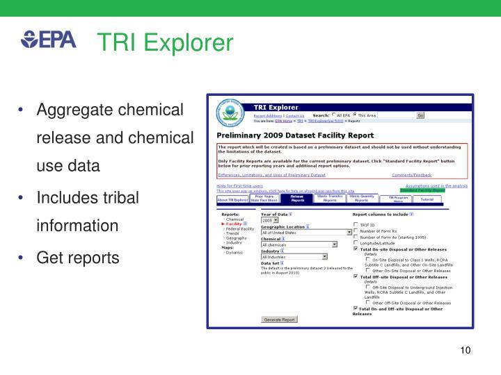 TRI Explorer
