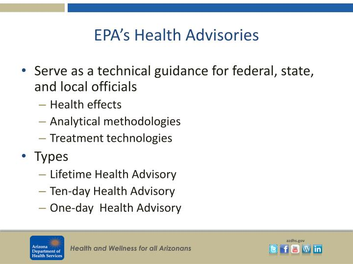 EPA's Health Advisories