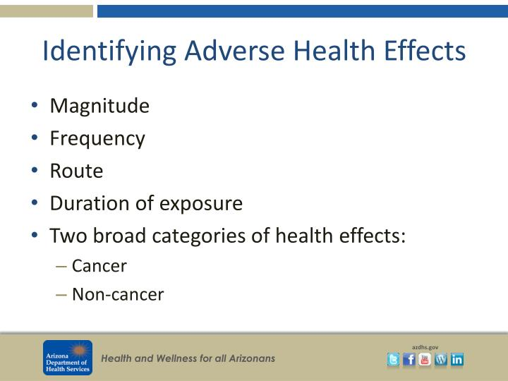 Identifying Adverse Health Effects