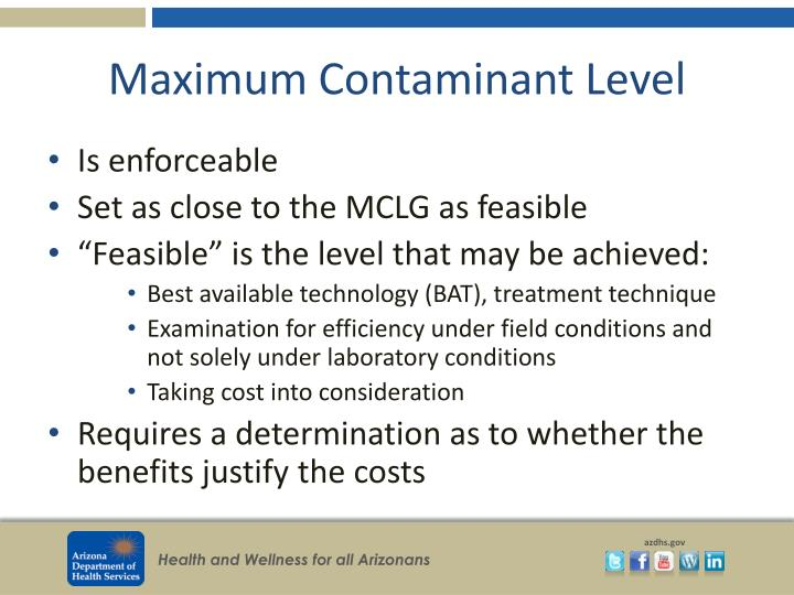 Maximum Contaminant Level