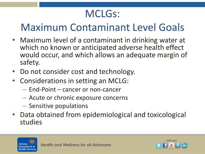 MCLGs: