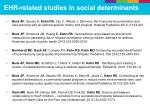 ehr related studies in social determinants