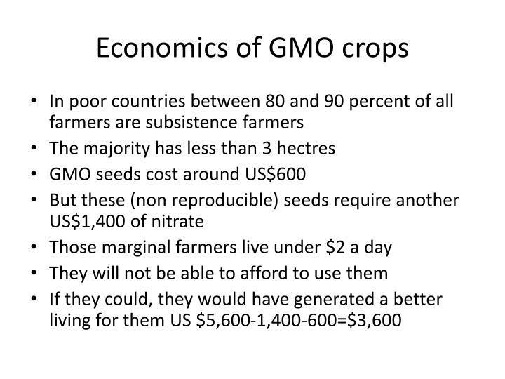 Economics of GMO crops