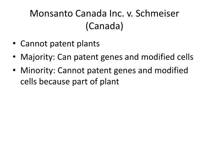 Monsanto Canada Inc. v. Schmeiser