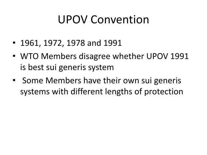 UPOV Convention