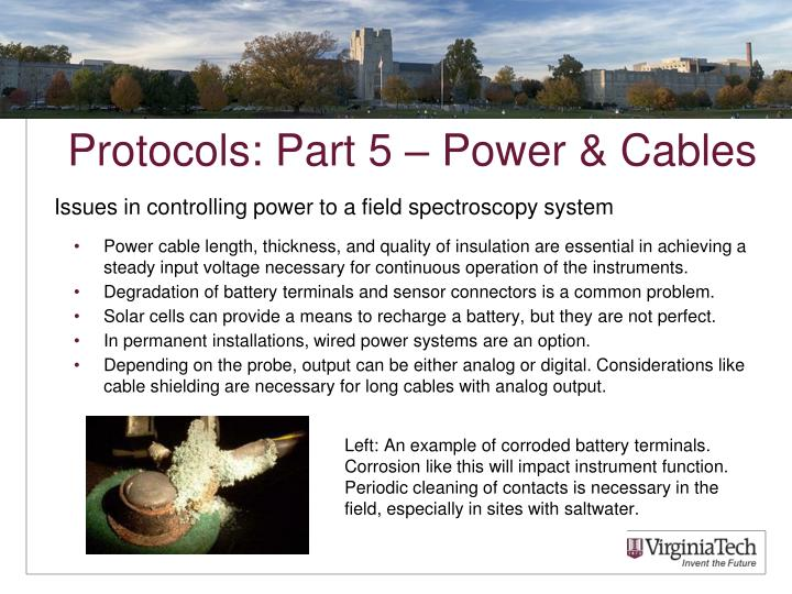 Protocols: Part 5 – Power & Cables