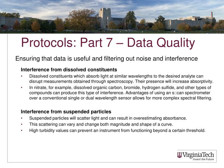 Protocols: Part 7 – Data Quality