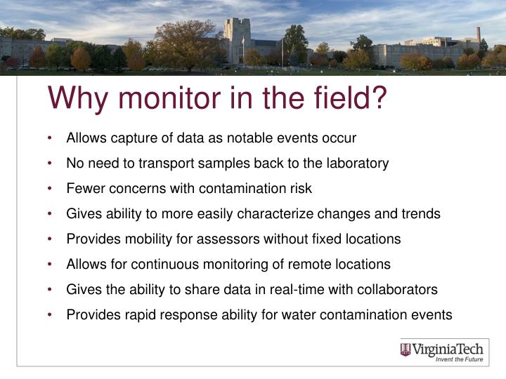 Why monitor in the field