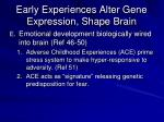 early experiences alter gene expression shape brain1