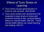 effects of toxic stress on learning1