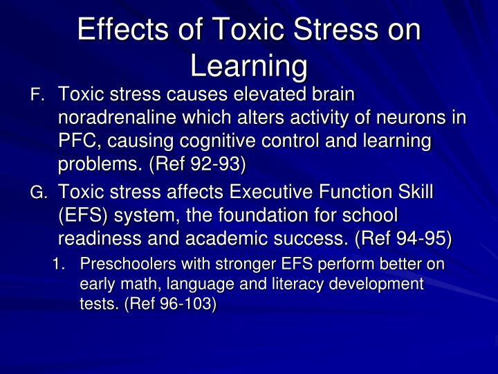 Effects of Toxic Stress on Learning