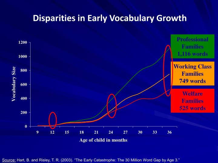 Disparities in Early Vocabulary Growth