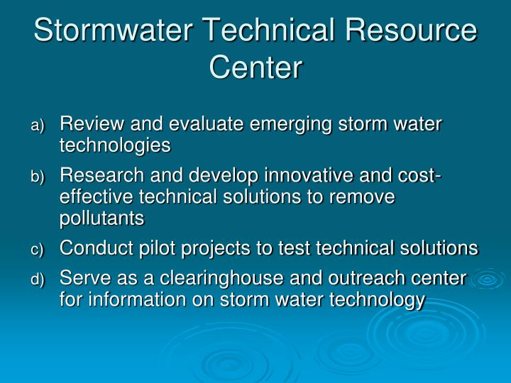 Stormwater technical resource center1