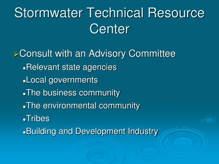 Stormwater Technical Resource Center