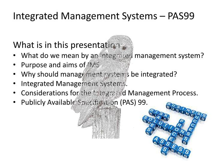 Integrated Management Systems – PAS99