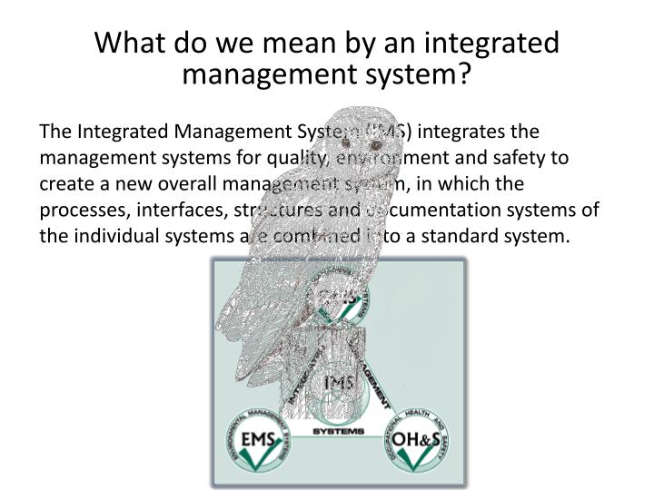 What do we mean by an integrated management system?