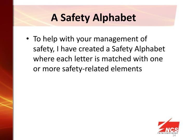 A Safety Alphabet