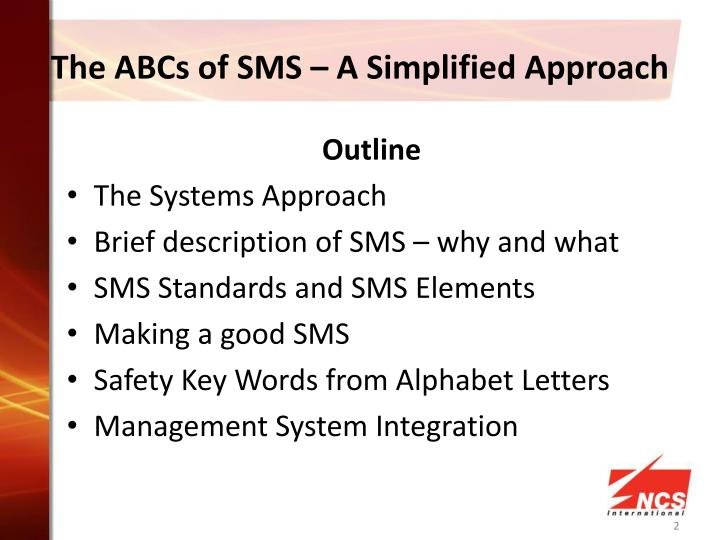 The ABCs of SMS – A Simplified Approach