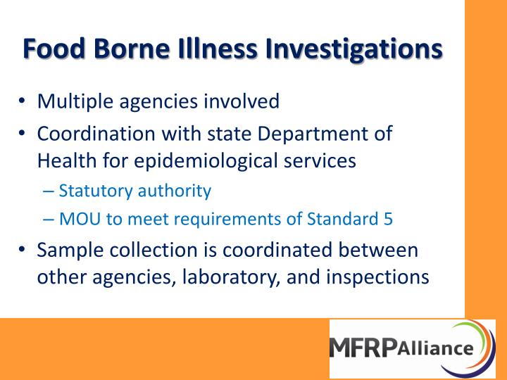 Food Borne Illness Investigations